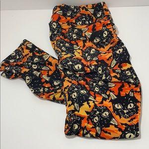 Women's LuLaRoe Black Cat Halloween leggings